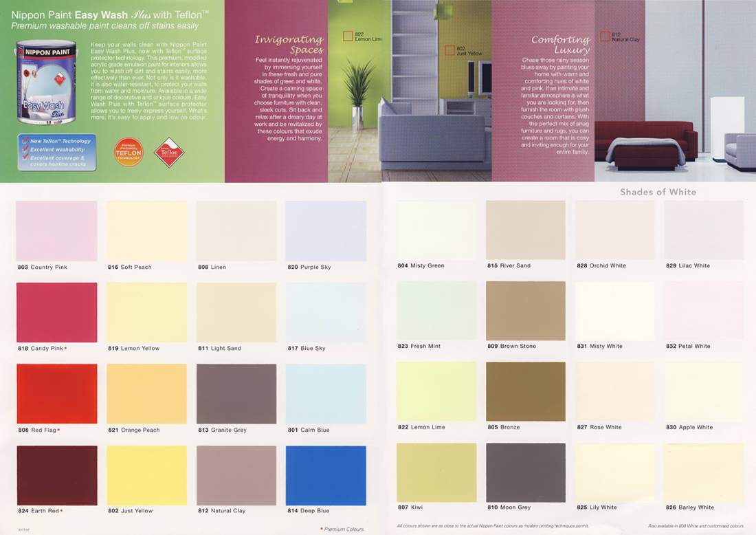 Paint colours singapore Paint wall colours